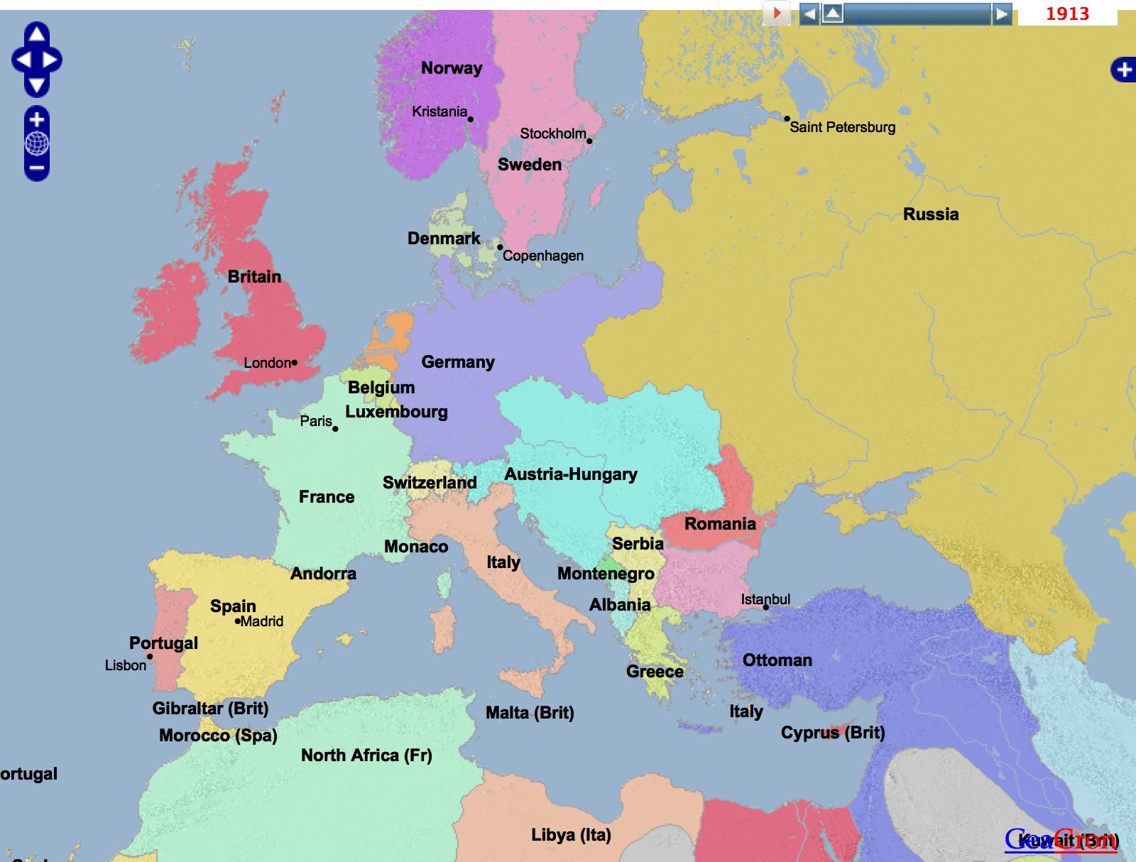 Karta Europa Andra Varldskriget.Forsta Varldskriget I Den Spanska Laroplanen